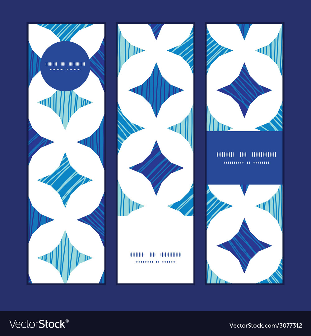 Blue marble tiles vertical banners set pattern vector | Price: 1 Credit (USD $1)