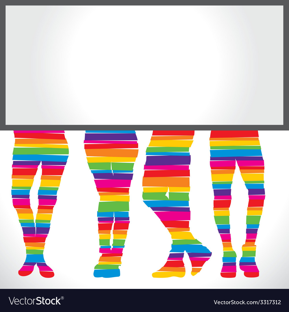 Bottom wear fashion with blank board vector | Price: 1 Credit (USD $1)