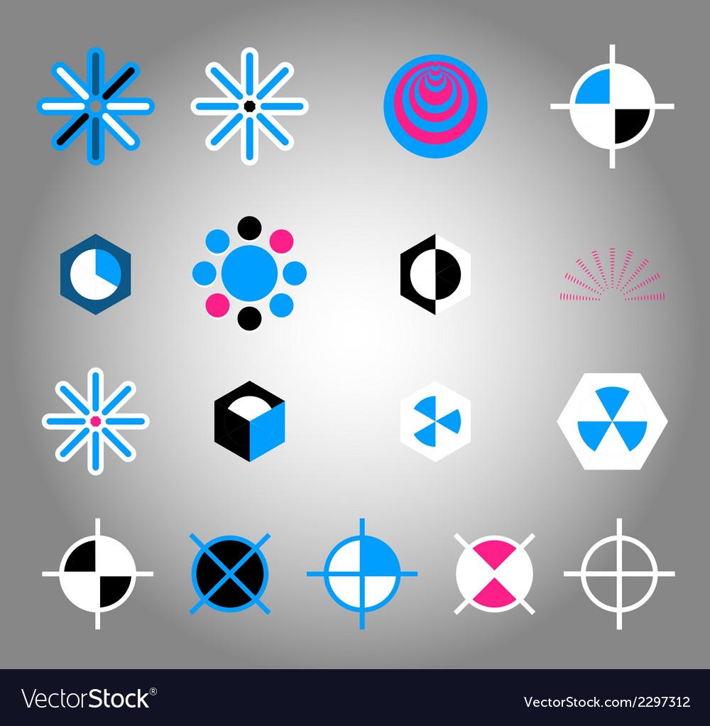 Collection of colorful icon element vector | Price: 1 Credit (USD $1)
