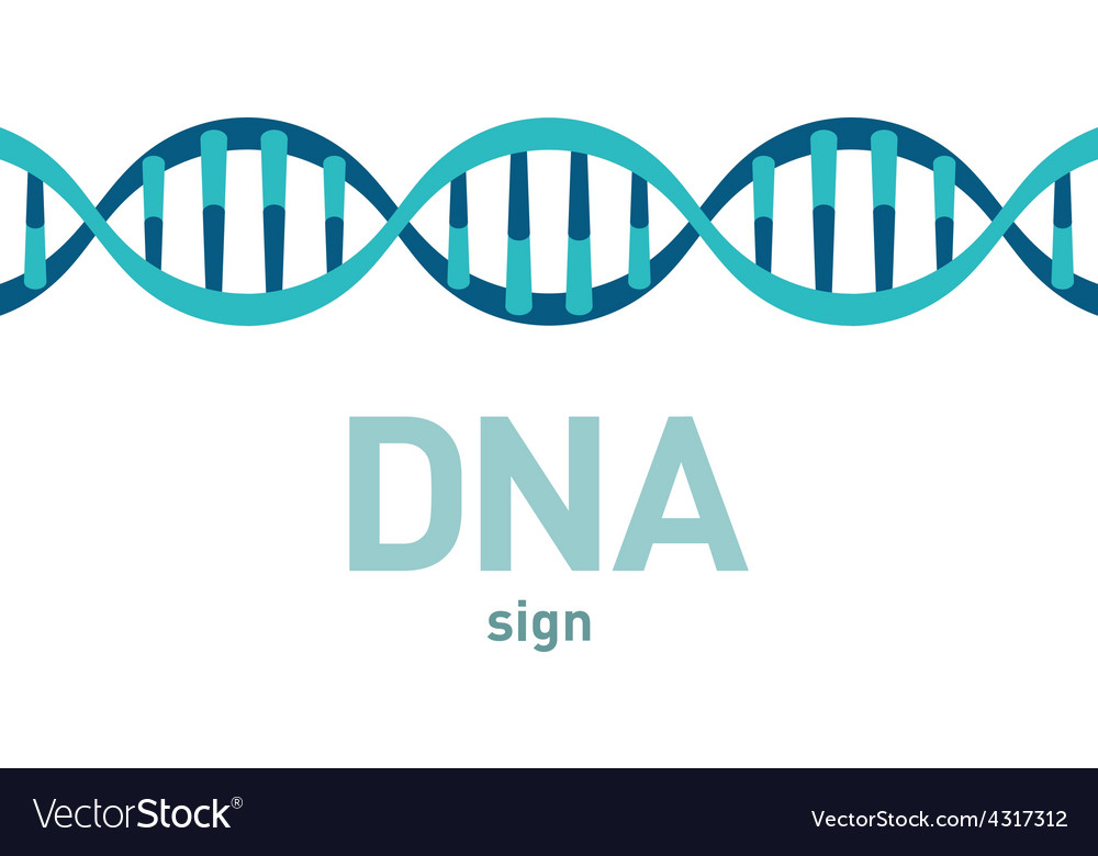Dna spiral sign vector | Price: 1 Credit (USD $1)