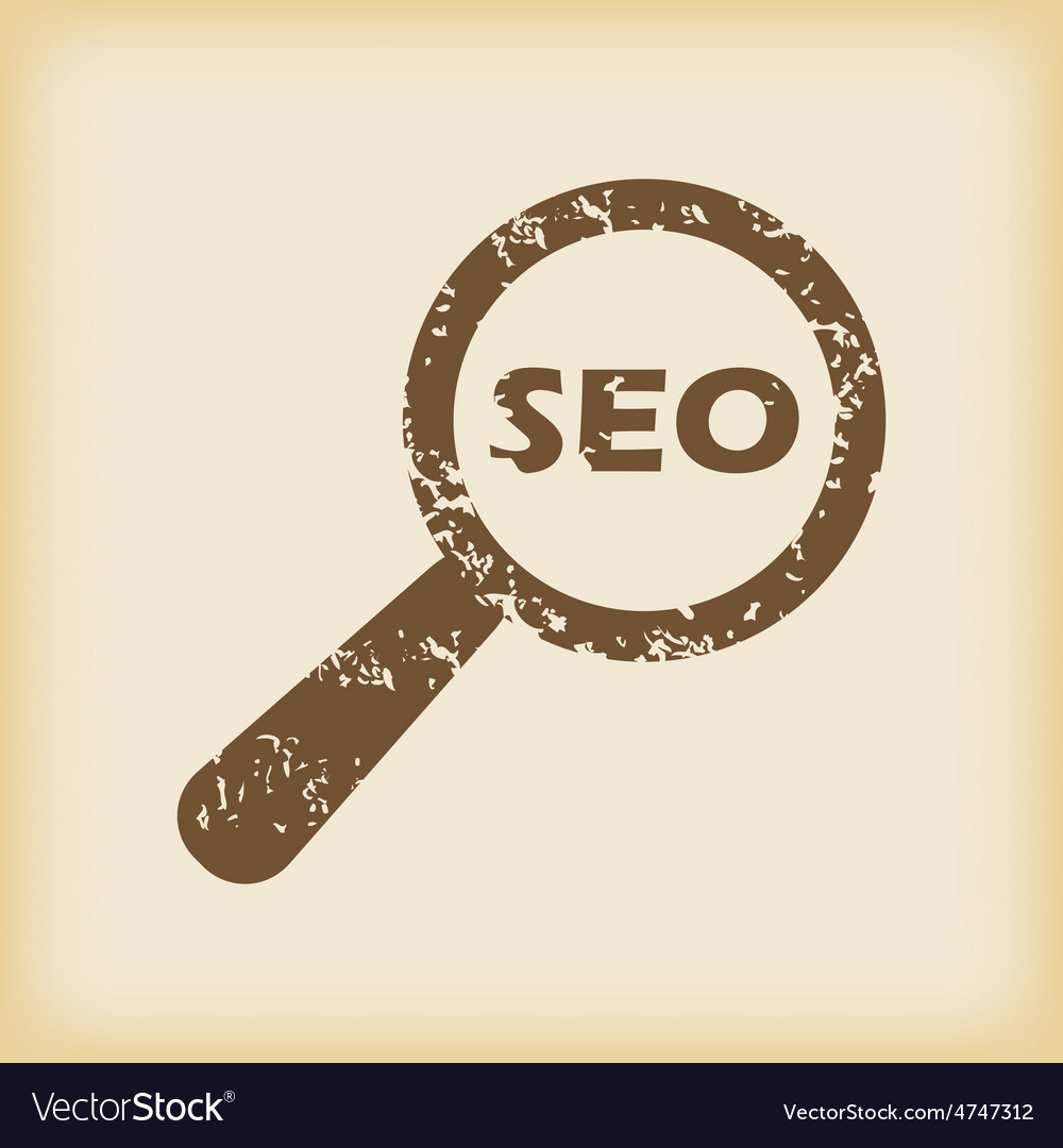 Grungy seo search icon vector | Price: 1 Credit (USD $1)