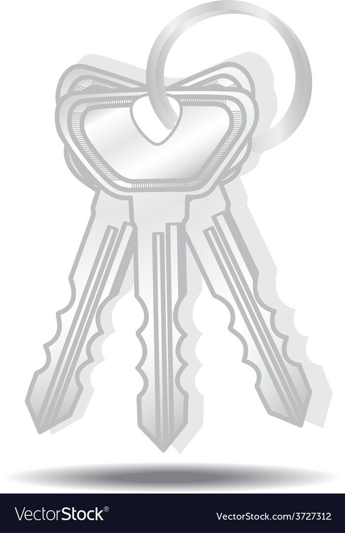 Keys isolated vector | Price: 1 Credit (USD $1)