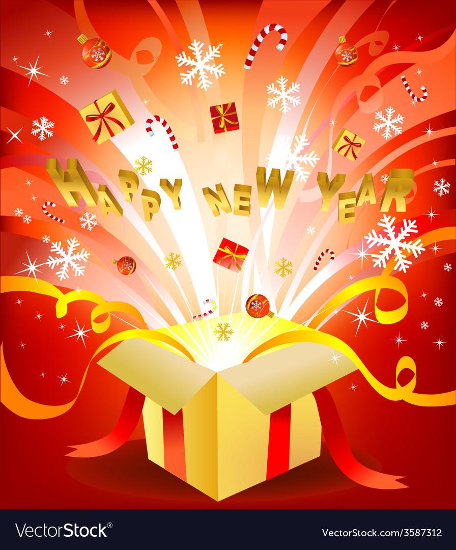 New year box vector   Price: 1 Credit (USD $1)