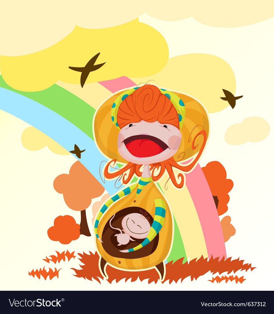 Pregnant mother vector | Price: 3 Credit (USD $3)