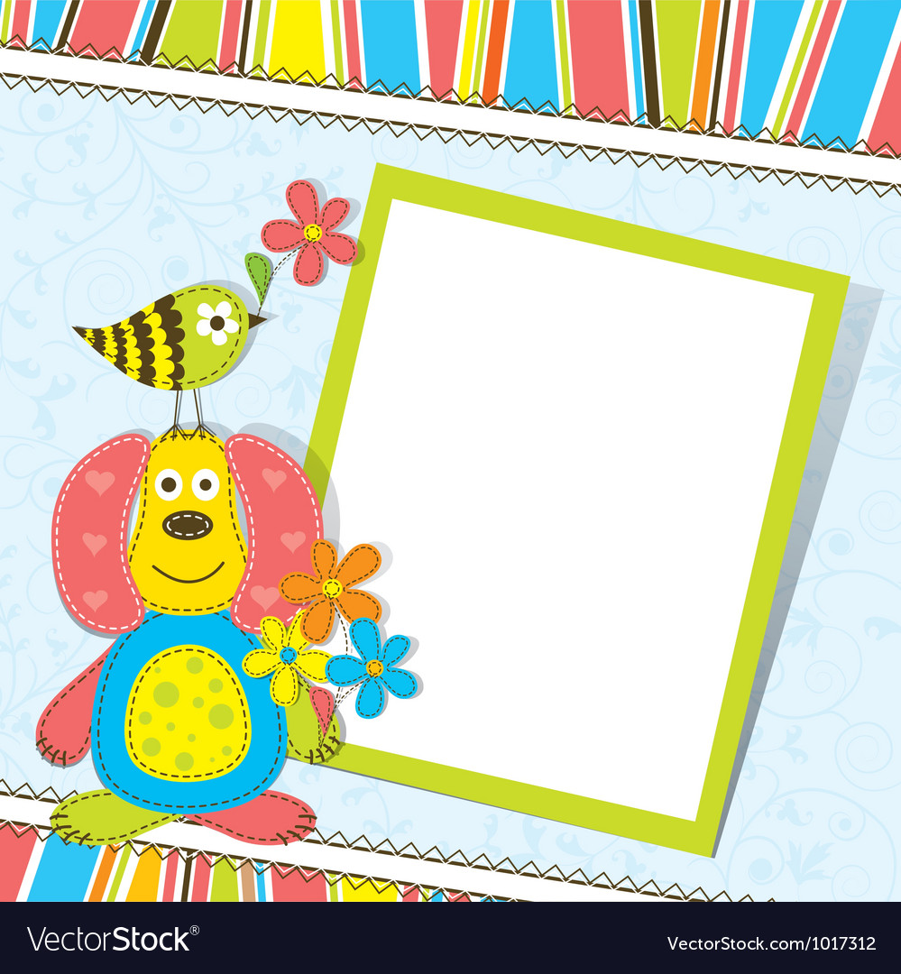 Scrapbook greeting card border vector | Price: 1 Credit (USD $1)