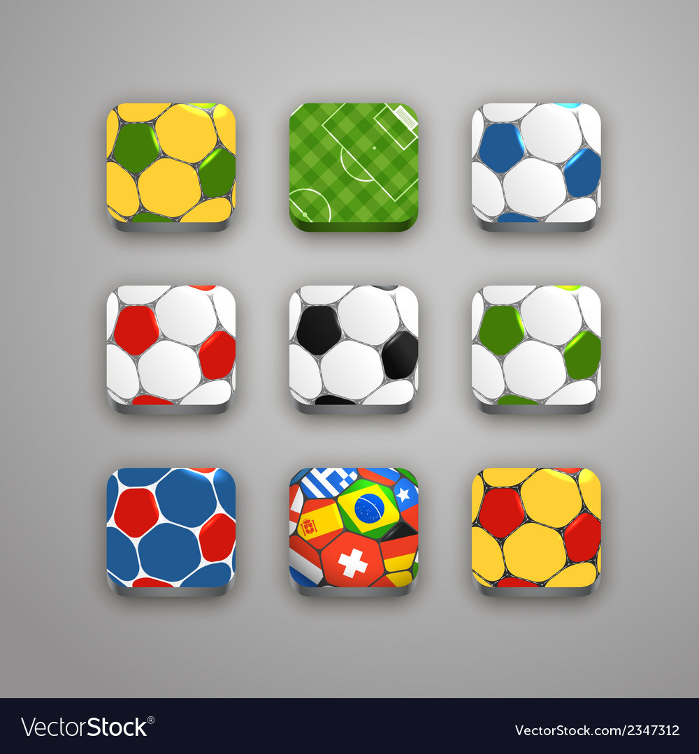 Soccer icons collection vector | Price: 1 Credit (USD $1)