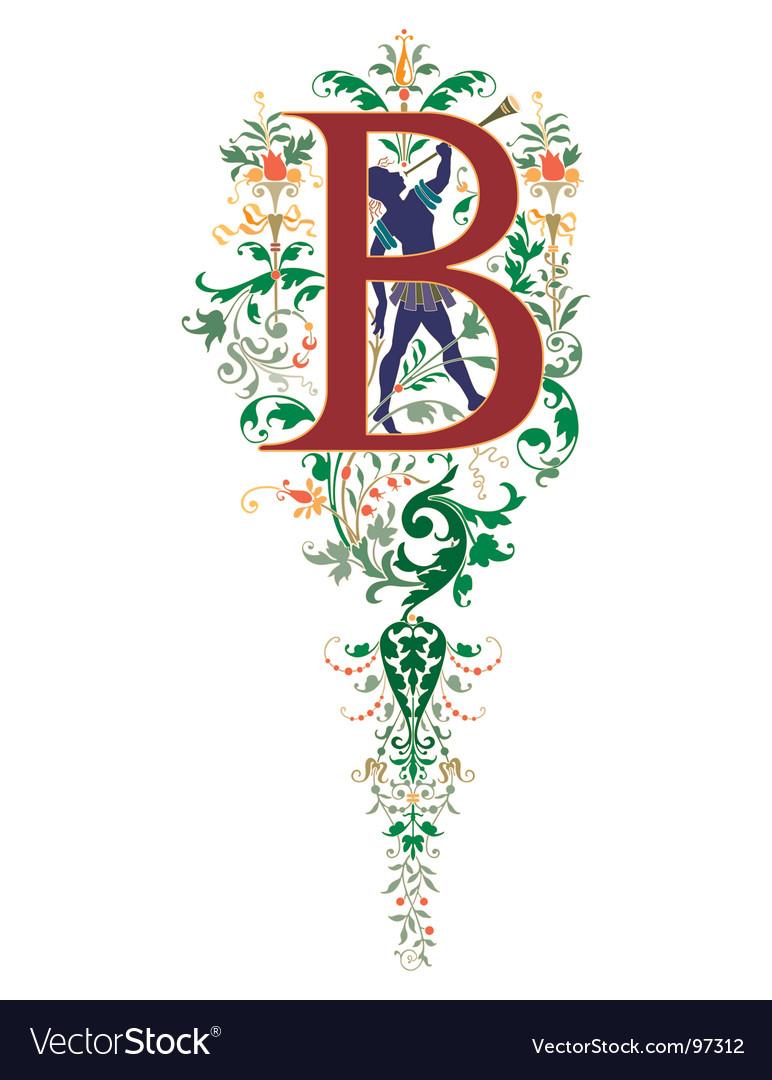 Vintage letter b vector | Price: 1 Credit (USD $1)