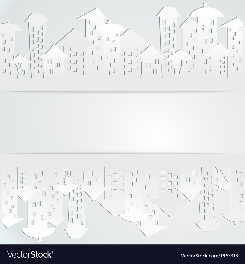 Abstract background with buildings vector | Price: 1 Credit (USD $1)