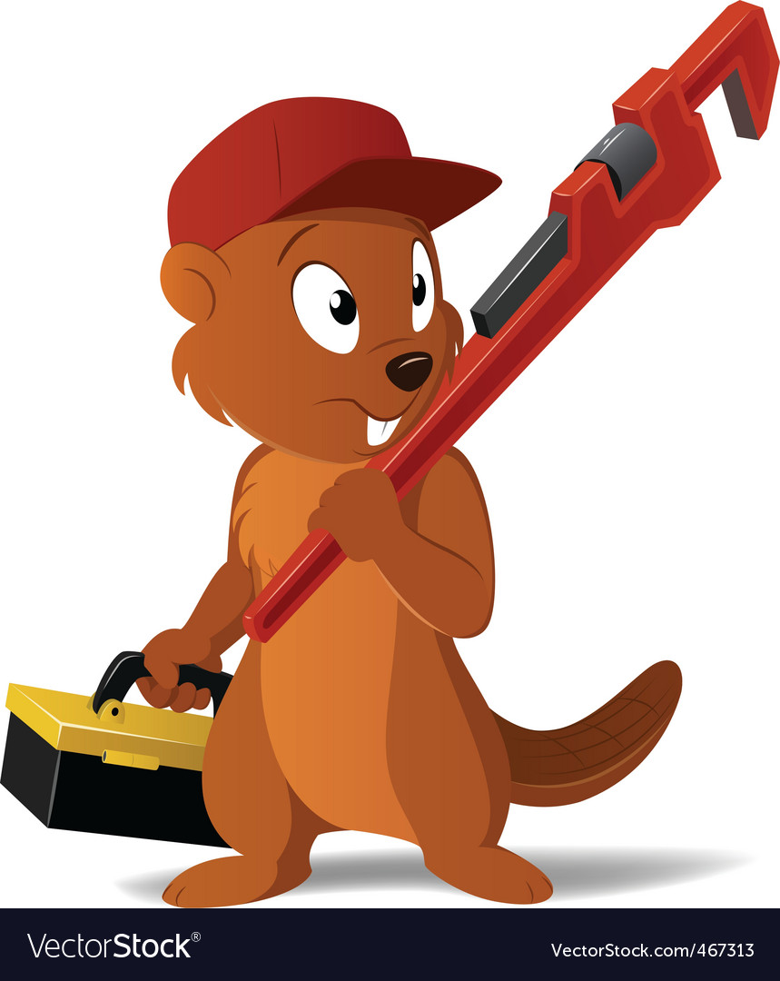 Cartoon beaver vector | Price: 1 Credit (USD $1)