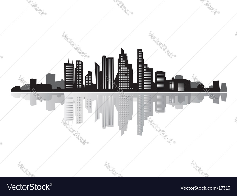 Cityscape silhouette vector | Price: 3 Credit (USD $3)