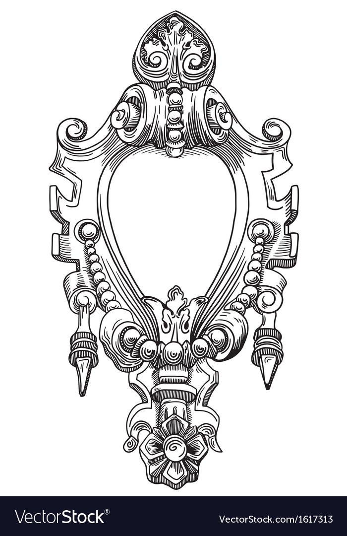 Decorative element of the facade vector | Price: 1 Credit (USD $1)