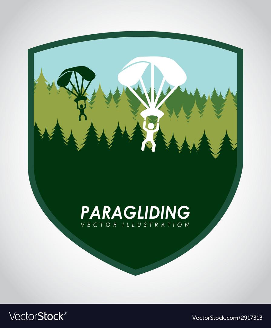 Paragliding vector | Price: 1 Credit (USD $1)