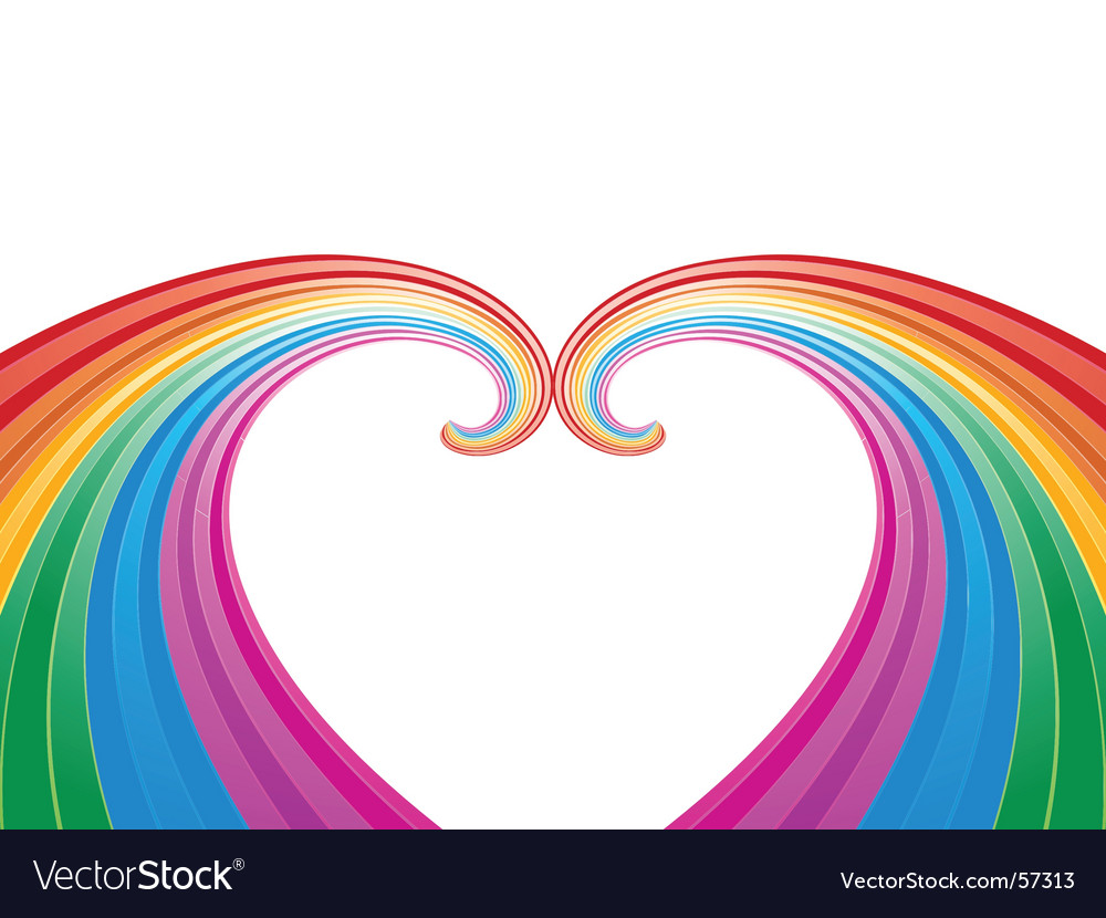 Rainbow abstract pattern vector | Price: 1 Credit (USD $1)