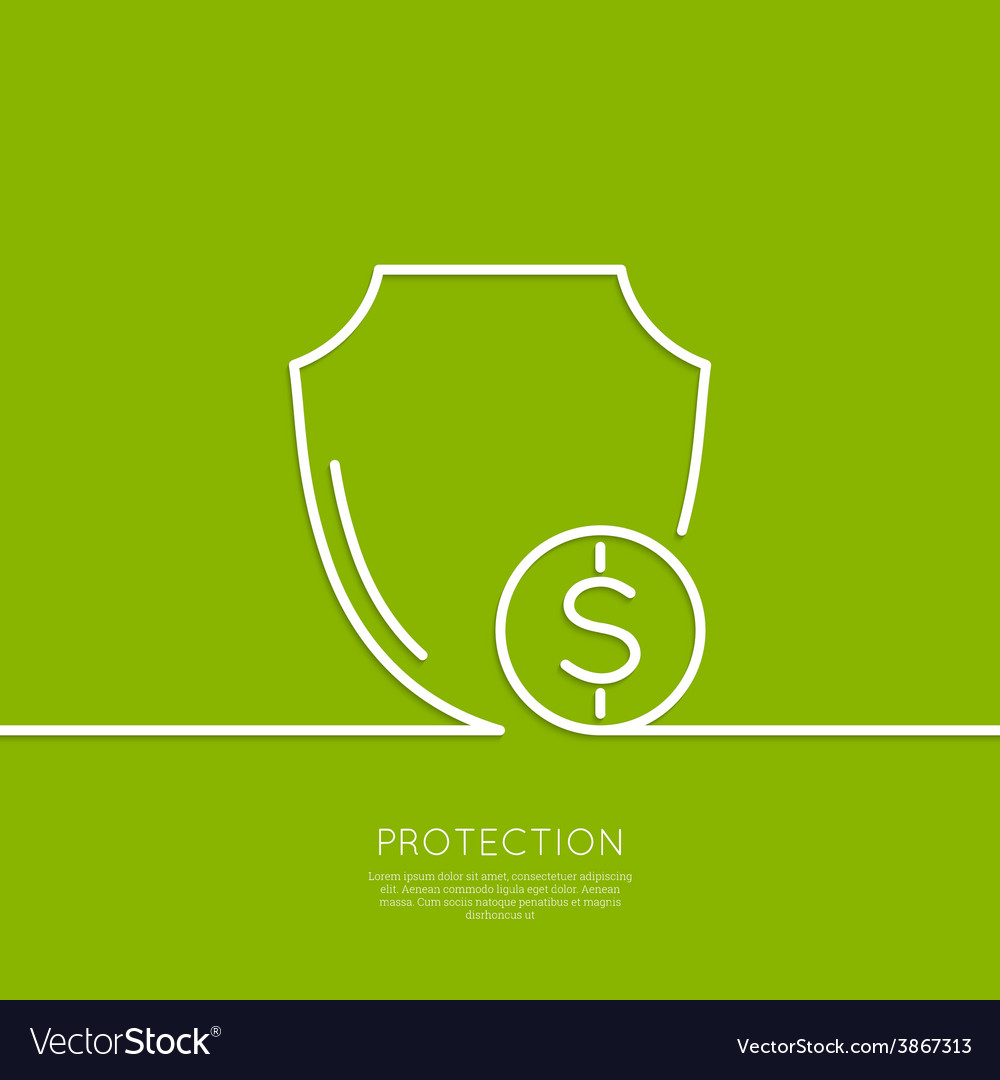 Shield and coin vector | Price: 1 Credit (USD $1)