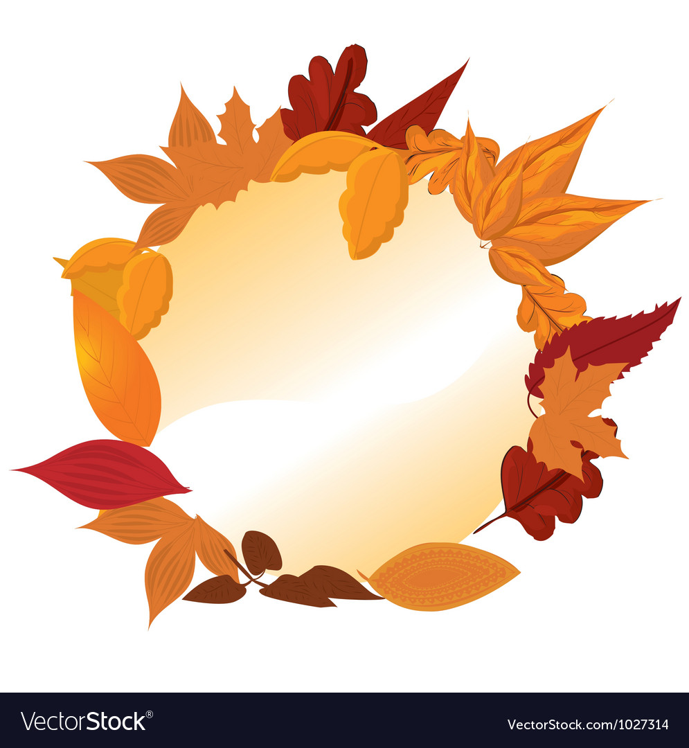 Autumn frames vector | Price: 1 Credit (USD $1)