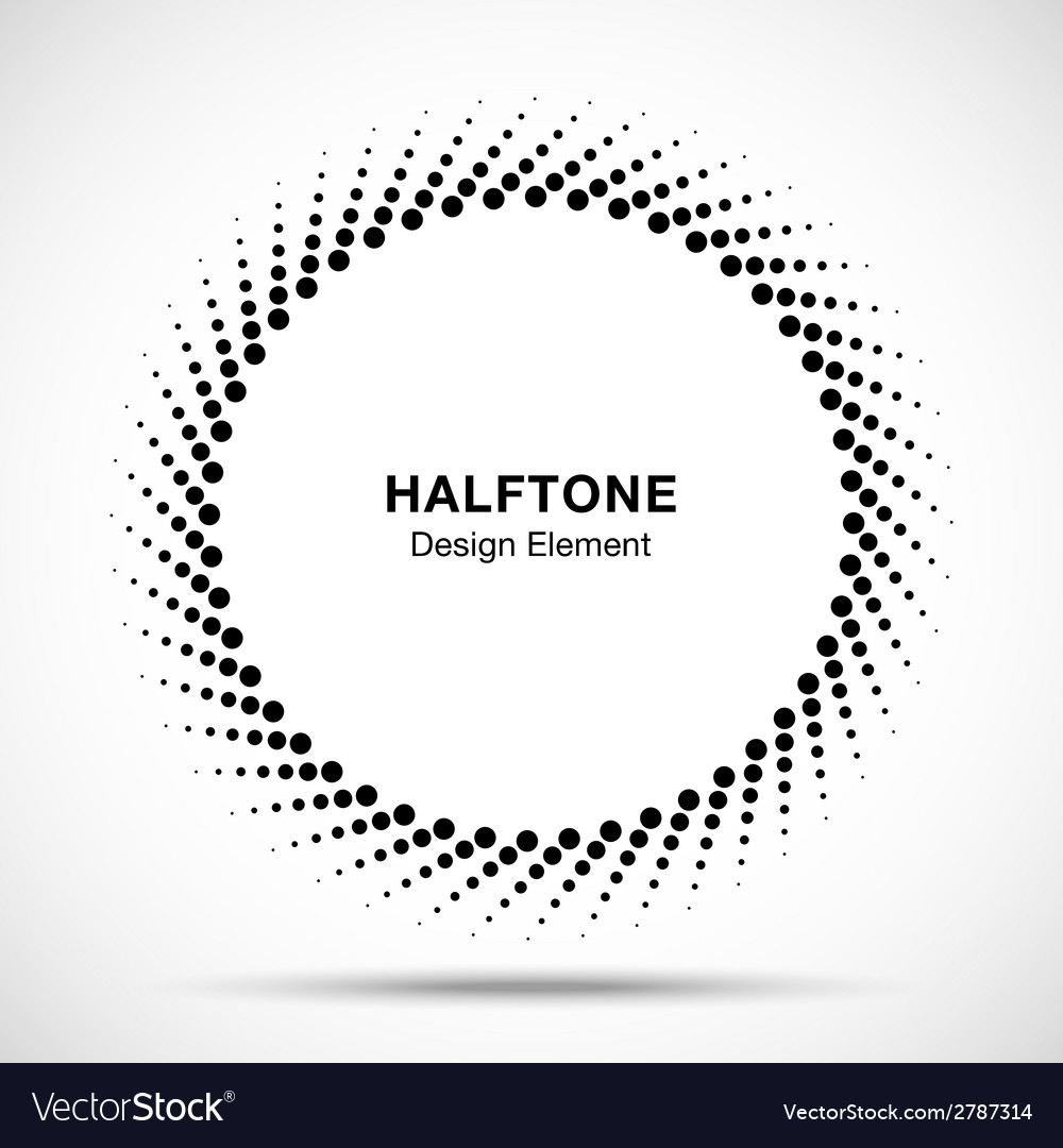 Black abstract halftone design element vector | Price: 1 Credit (USD $1)