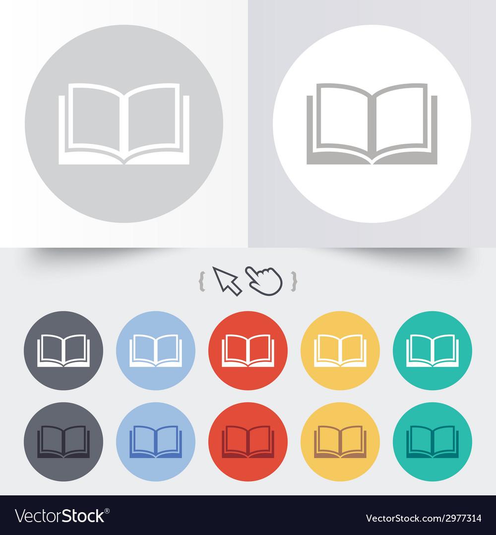 Book sign icon open book symbol vector   Price: 1 Credit (USD $1)