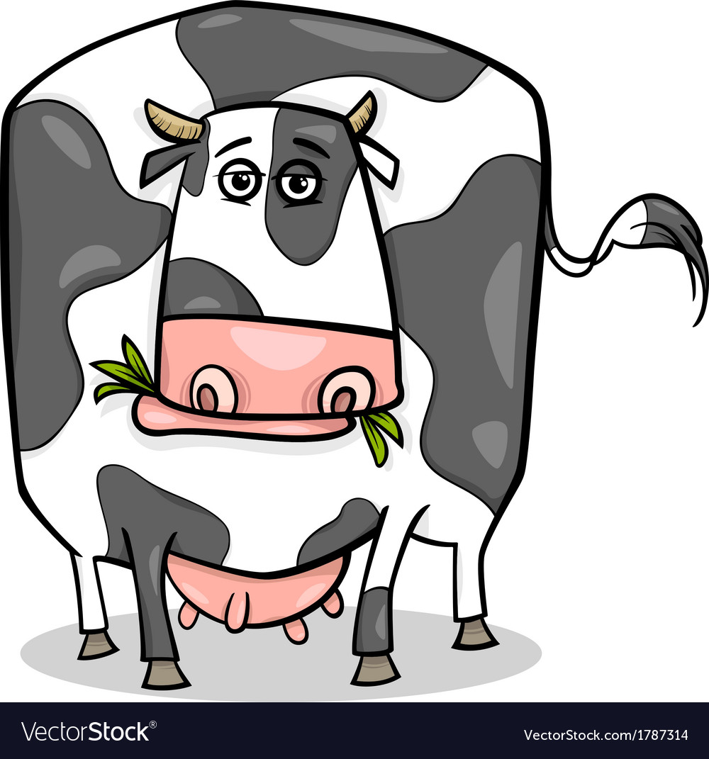 Cow farm animal cartoon vector | Price: 1 Credit (USD $1)