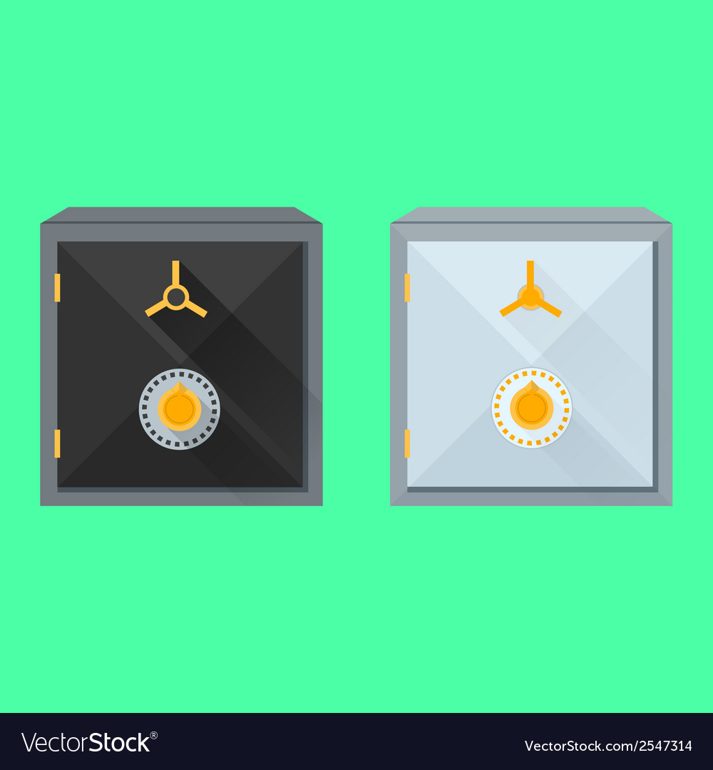 Flat of safes vector | Price: 1 Credit (USD $1)