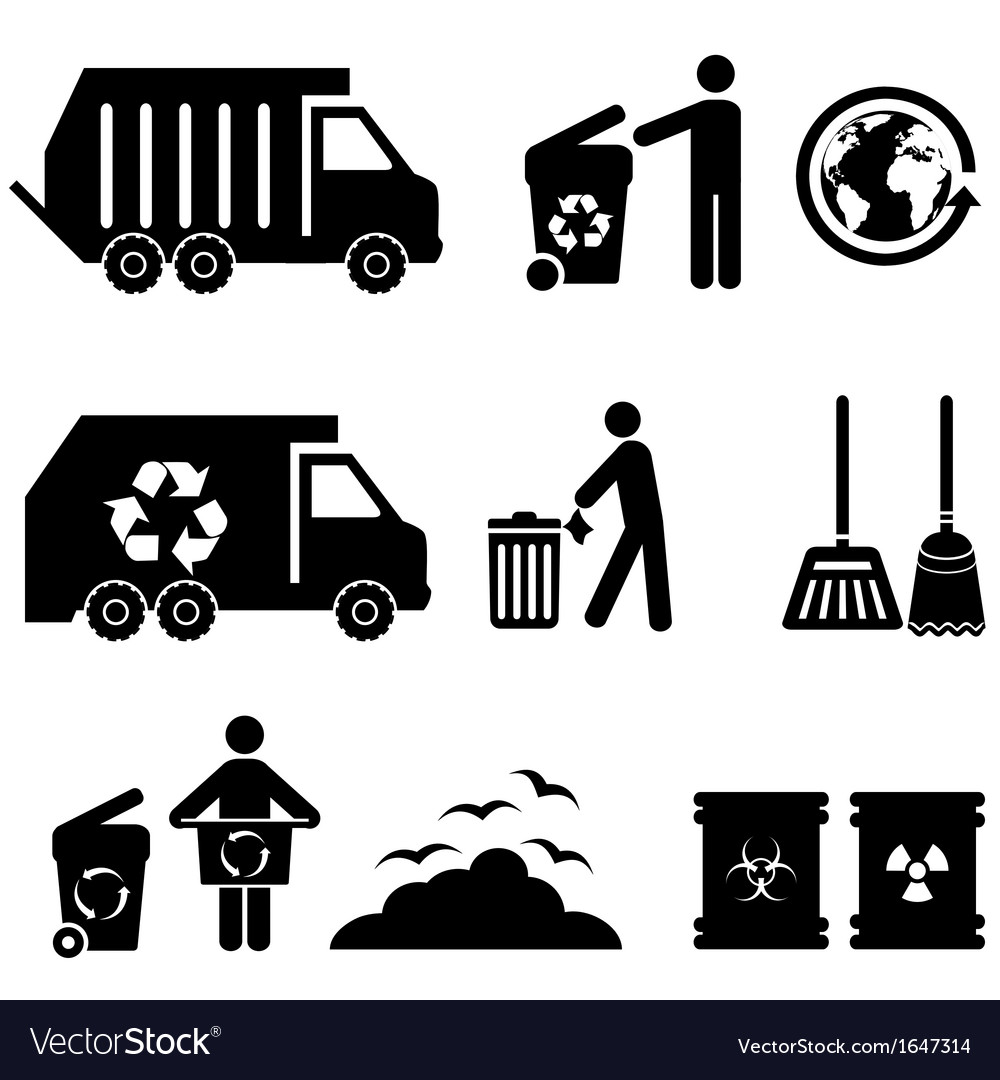Garbage icons vector | Price: 1 Credit (USD $1)