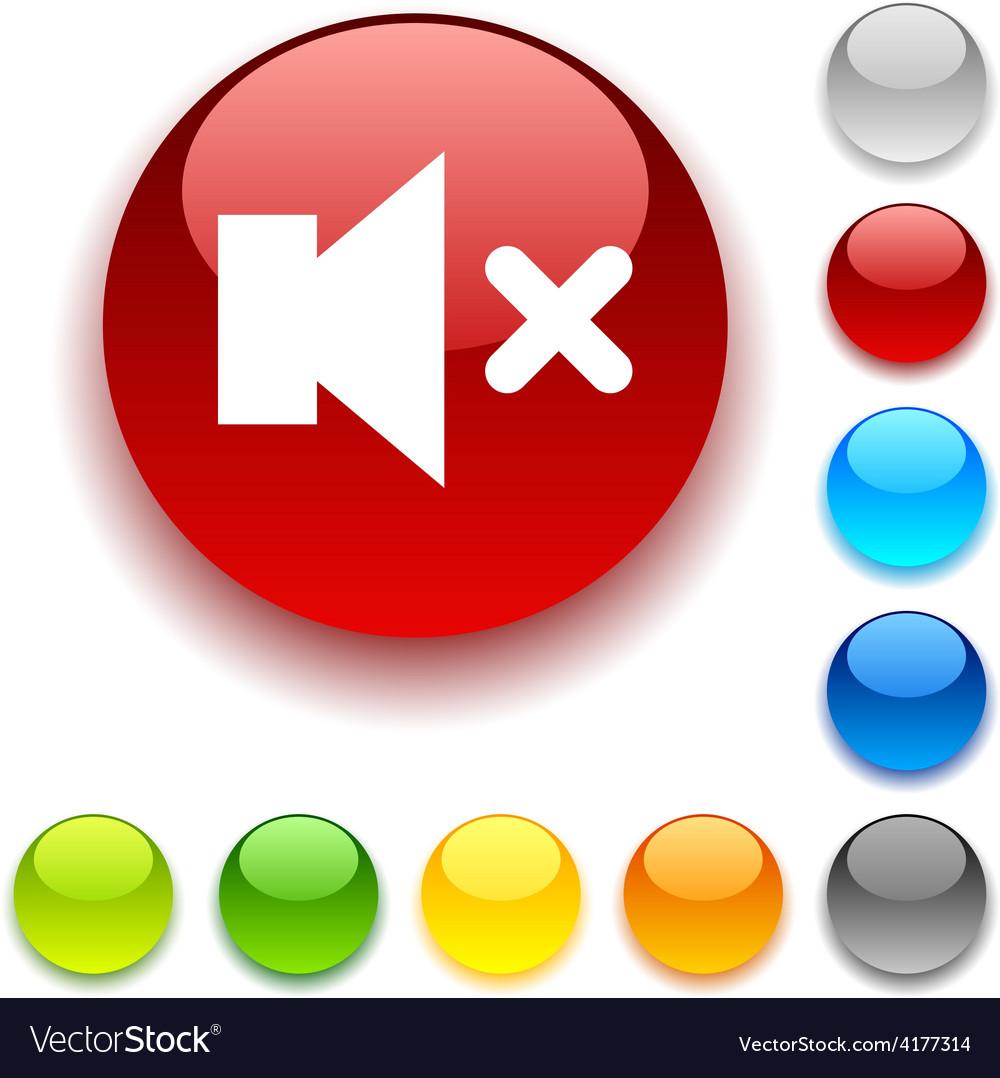 Mute button vector | Price: 1 Credit (USD $1)