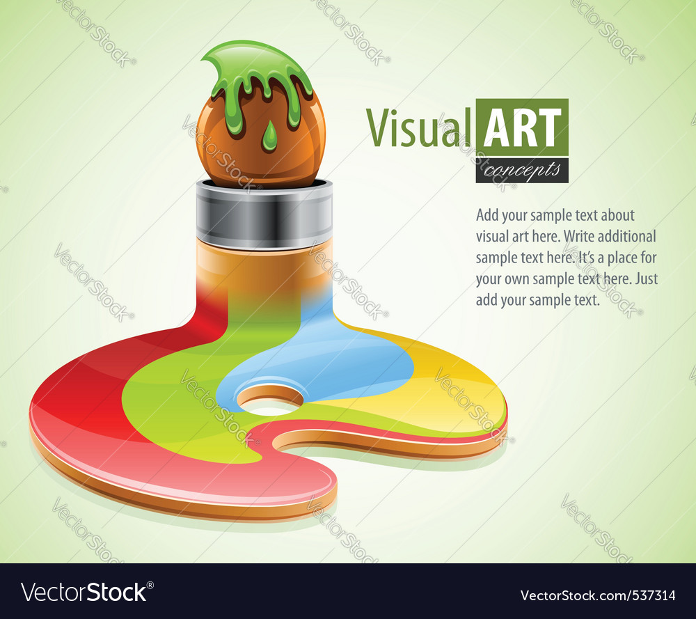 Paint brush as symbol of vector | Price: 3 Credit (USD $3)
