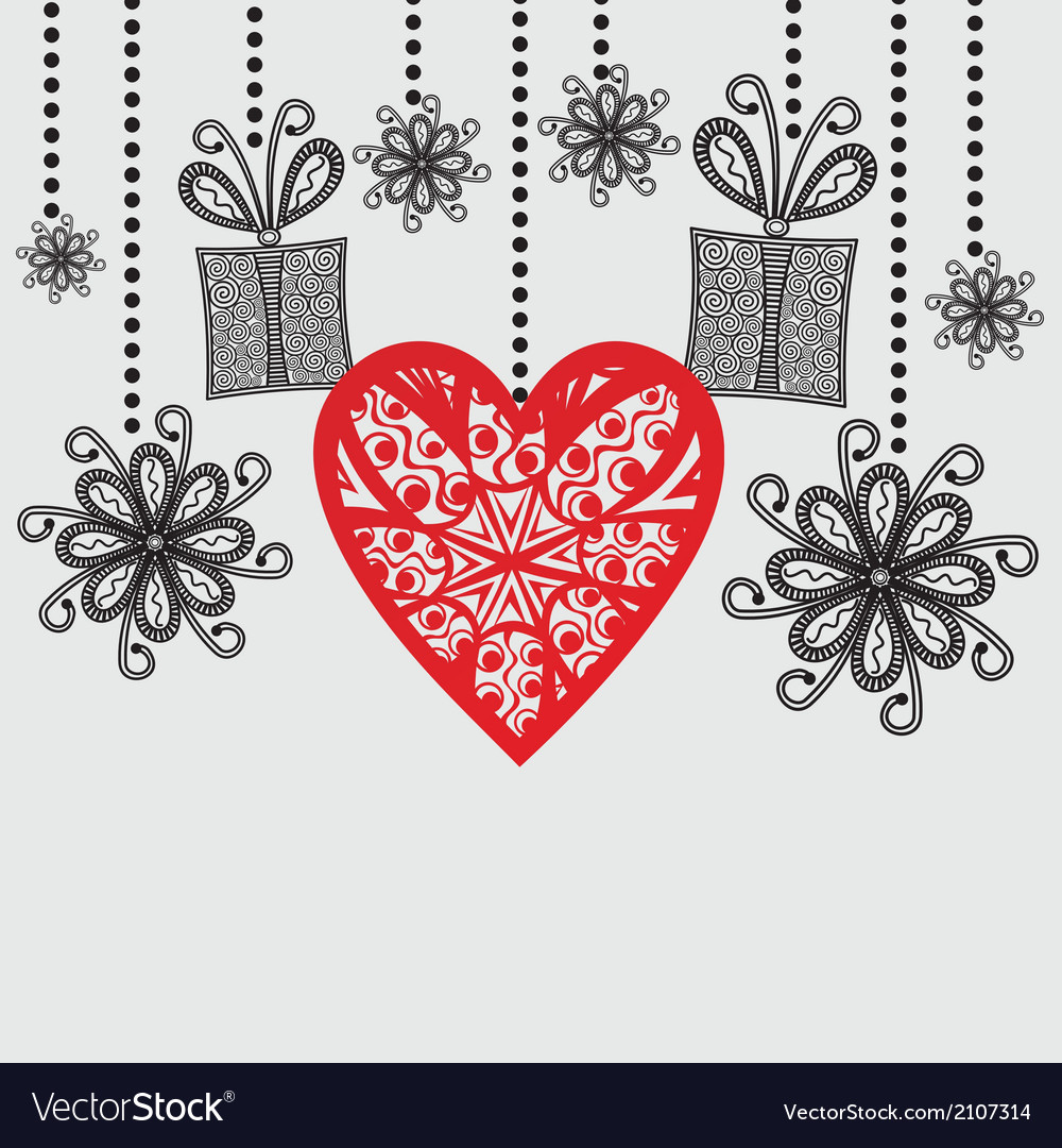 Romantic pattern background hearts vector | Price: 1 Credit (USD $1)