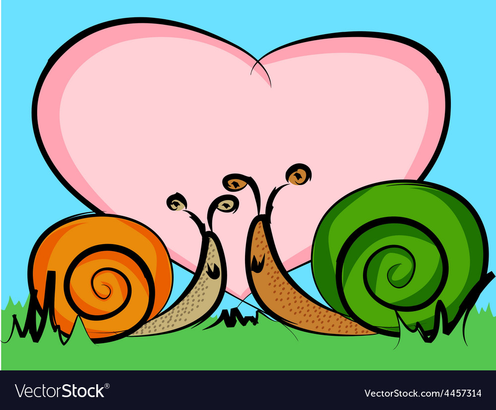 Snails in love vector | Price: 1 Credit (USD $1)