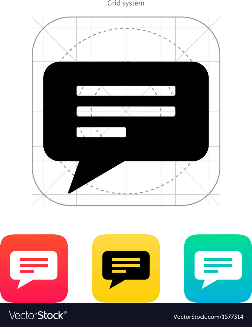 Text bubble icon vector | Price: 1 Credit (USD $1)