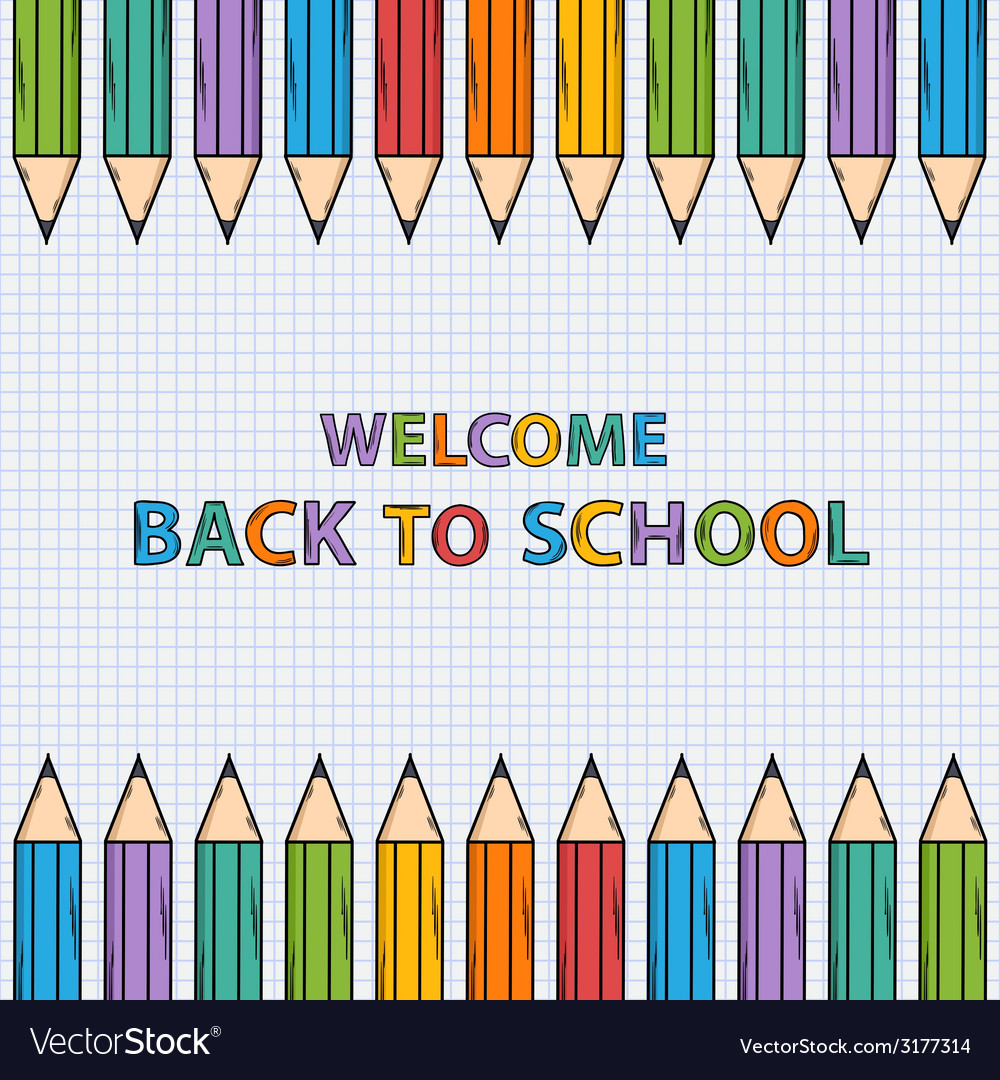 Welcome back to school bacground vector | Price: 1 Credit (USD $1)