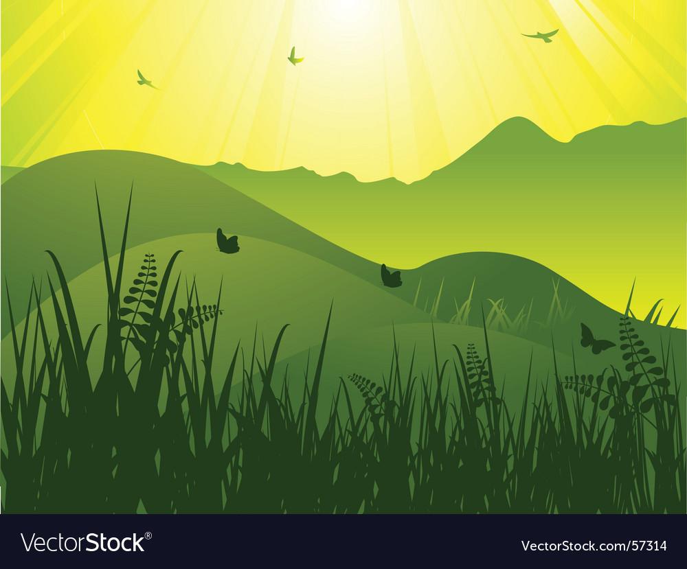 Wild landscape vector   Price: 1 Credit (USD $1)