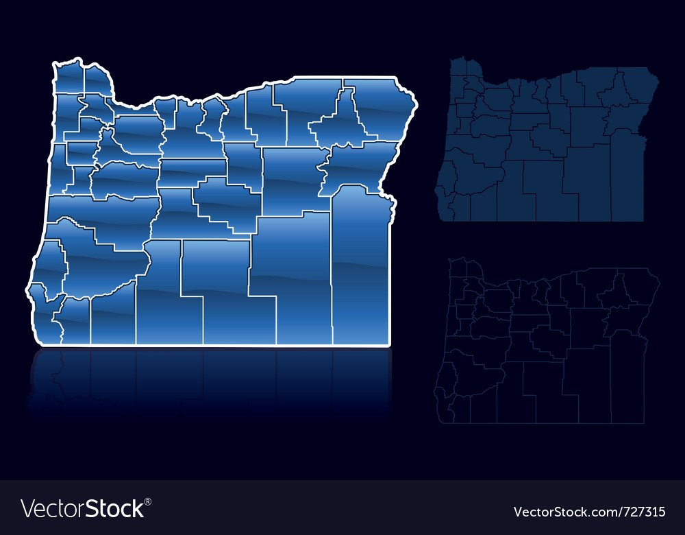 Counties of oregon vector | Price: 1 Credit (USD $1)