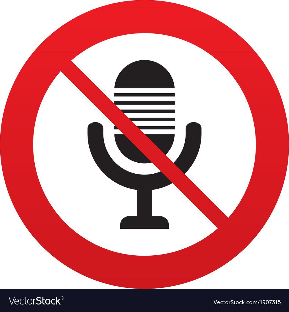 Dont record microphone icon speaker symbol vector | Price: 1 Credit (USD $1)