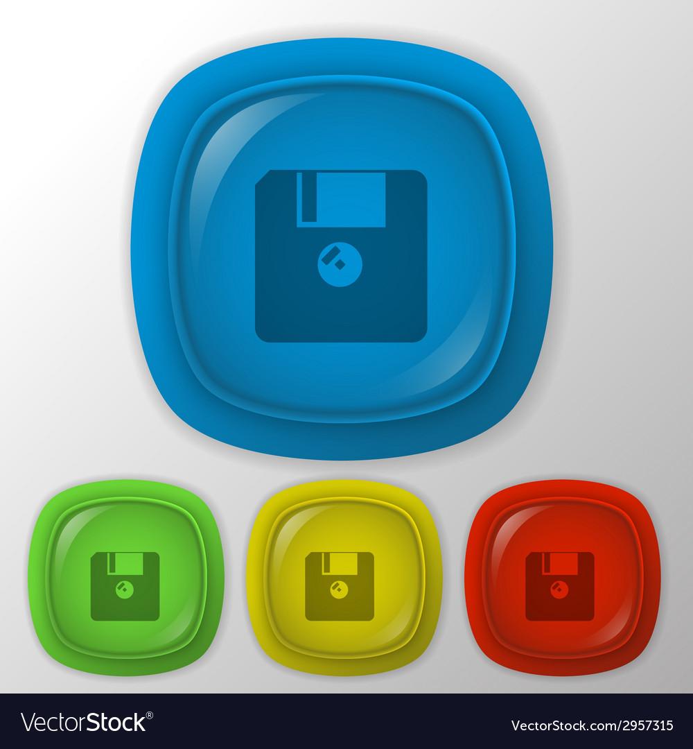 Floppy diskette vector | Price: 1 Credit (USD $1)