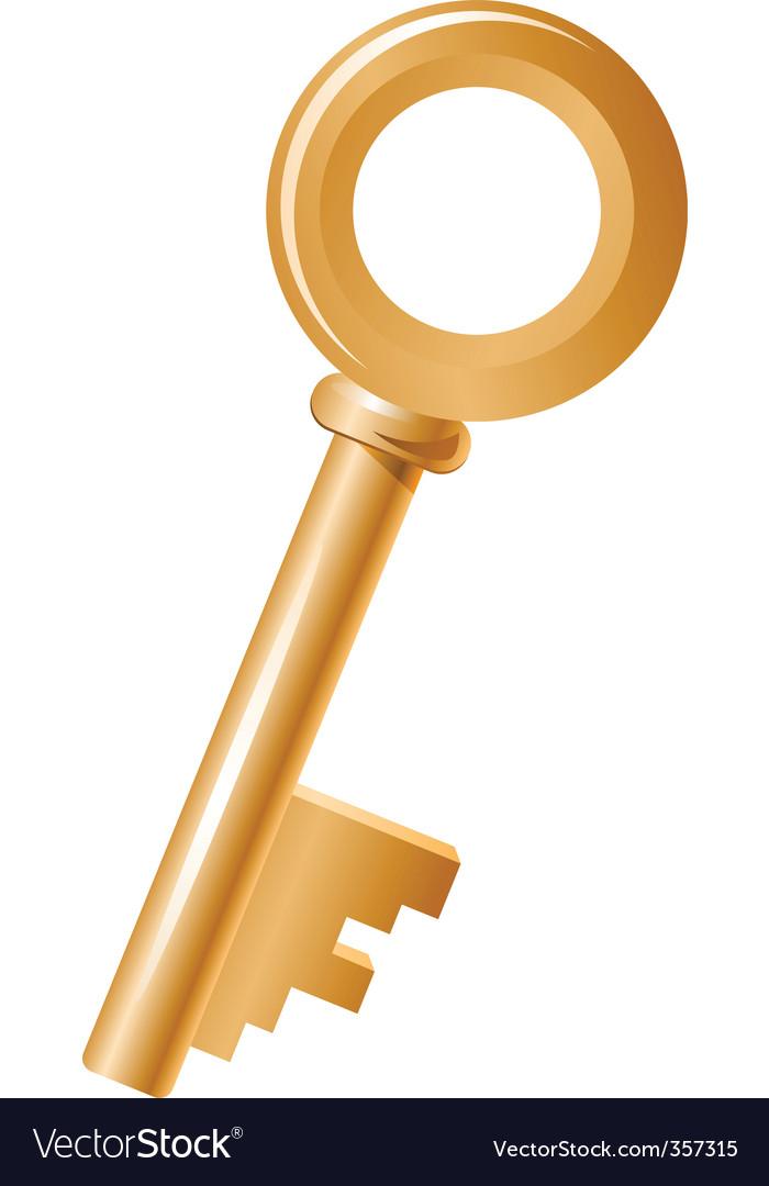 Gold key vector | Price: 1 Credit (USD $1)