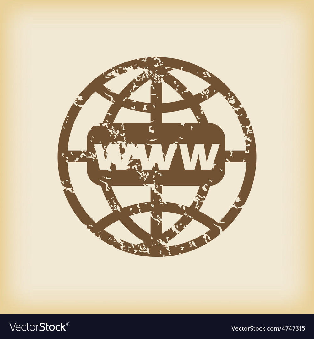 Grungy global network icon vector | Price: 1 Credit (USD $1)