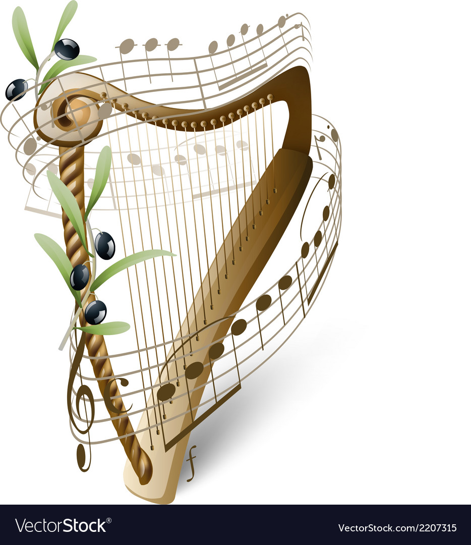 Harp of david vector | Price: 1 Credit (USD $1)