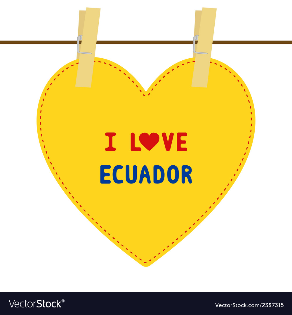 I love ecuador6 vector | Price: 1 Credit (USD $1)