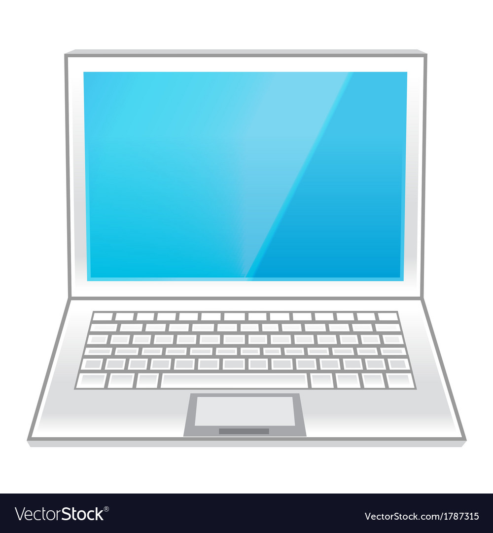 Isolated white laptop vector | Price: 1 Credit (USD $1)