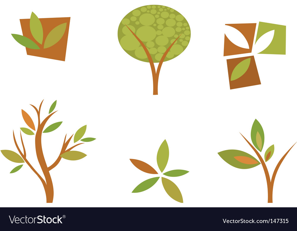 Nature logos 08 autumn leaves vector | Price: 1 Credit (USD $1)
