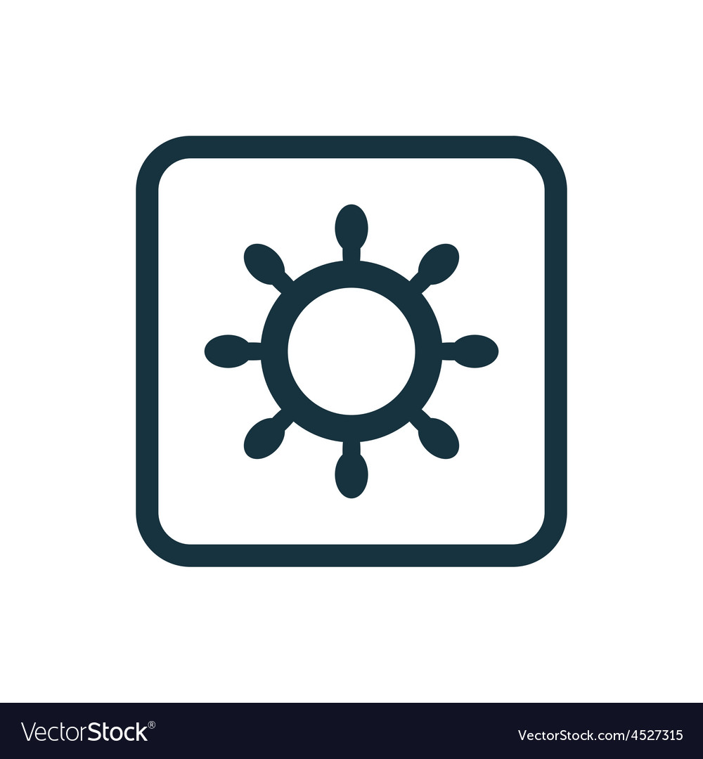 Ship wheel icon rounded squares button vector | Price: 1 Credit (USD $1)