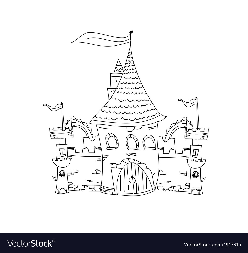 Sketchy castle vector | Price: 1 Credit (USD $1)