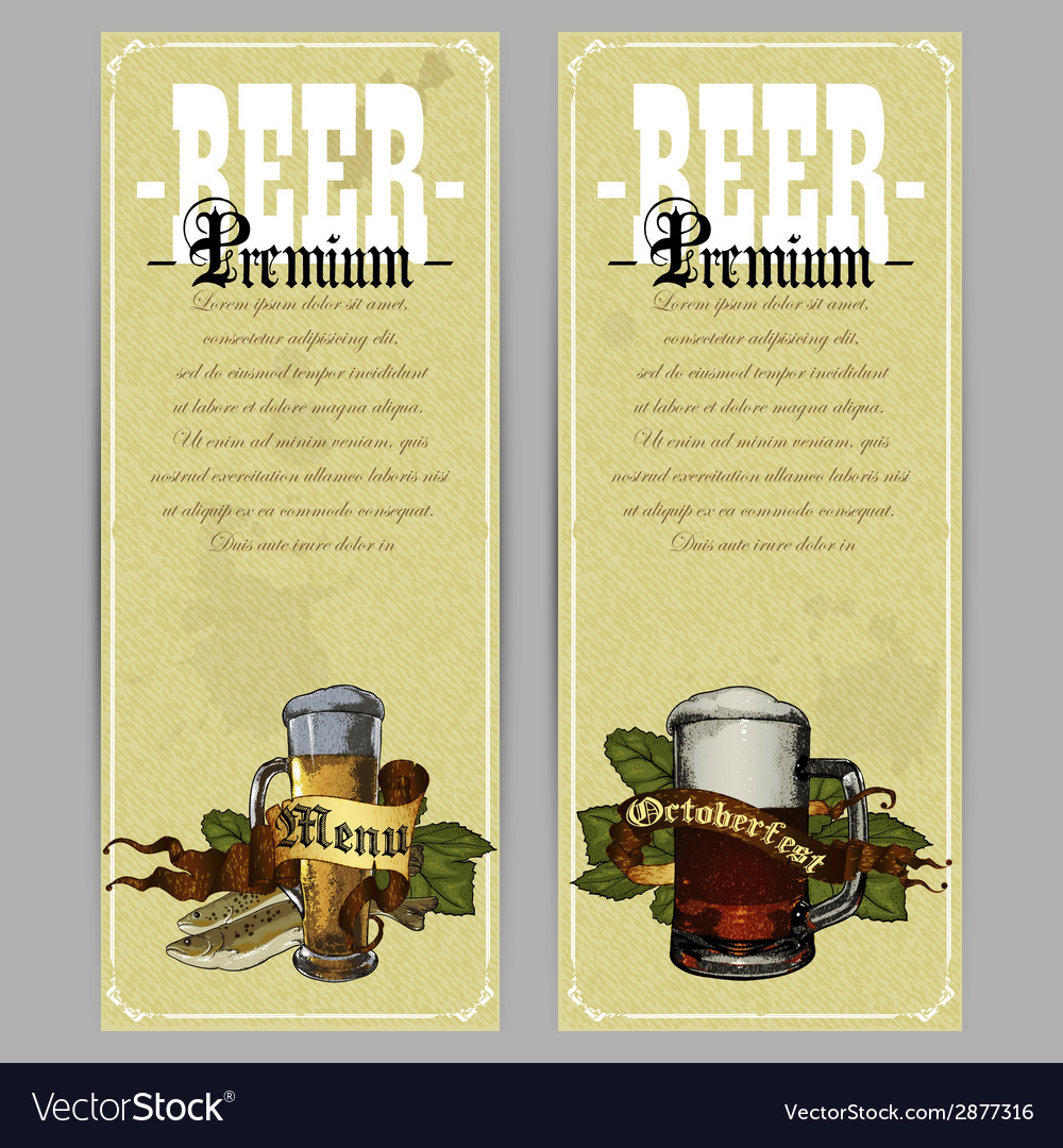 Beer menu design vector | Price: 1 Credit (USD $1)
