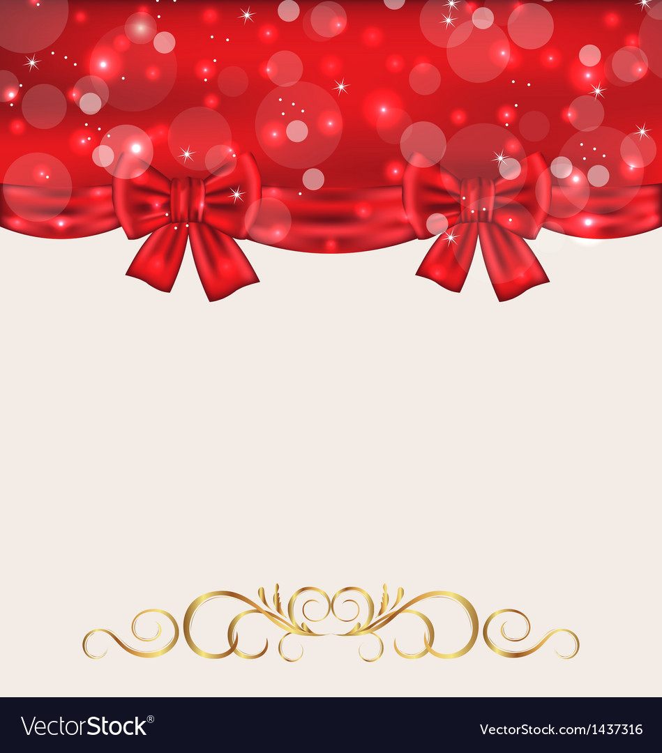Holiday background with gift bows vector | Price: 1 Credit (USD $1)