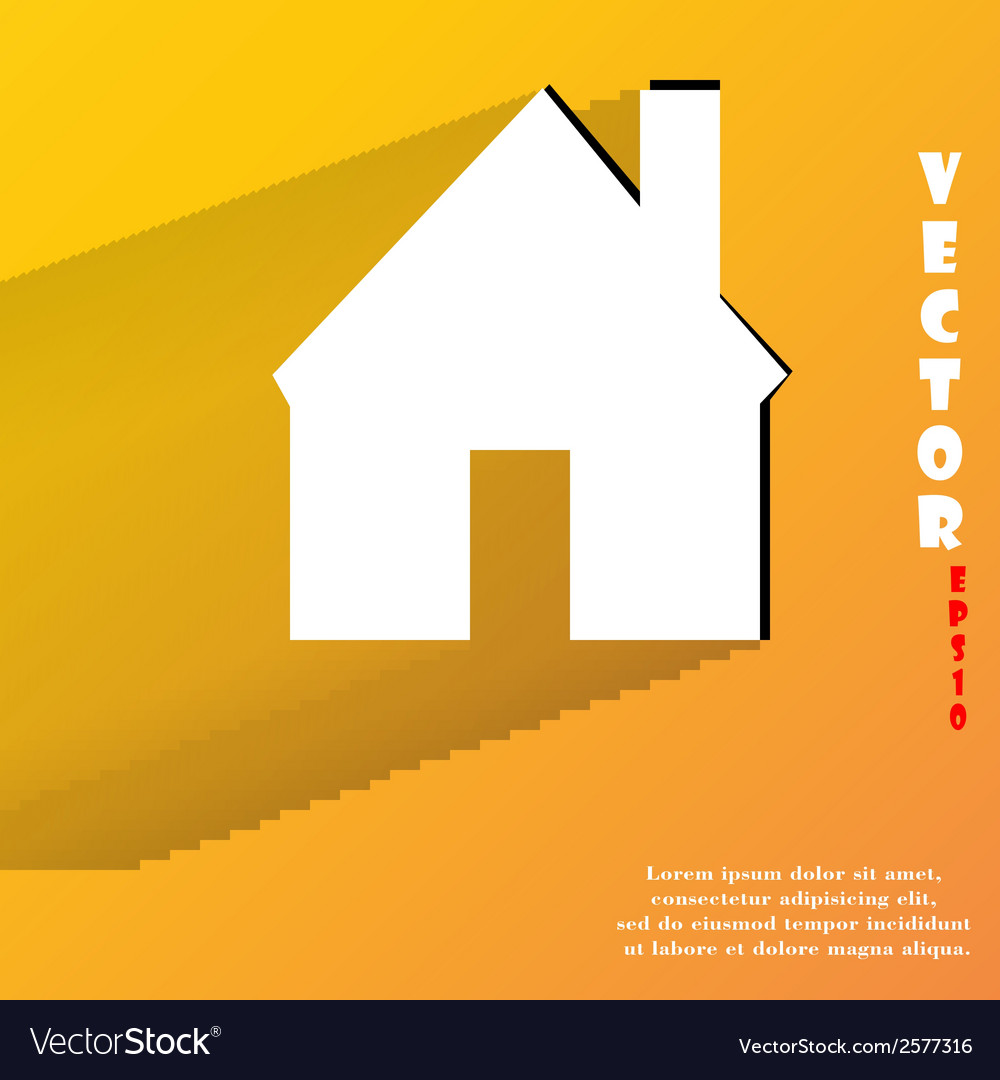 Home flat modern web button with long shadow and vector   Price: 1 Credit (USD $1)