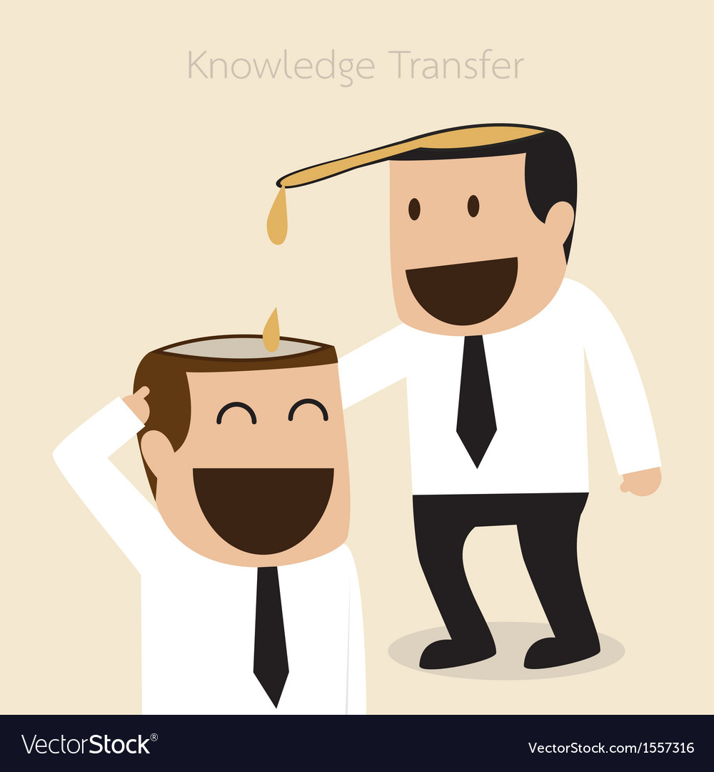 Knowledge transfer concept vector | Price: 1 Credit (USD $1)