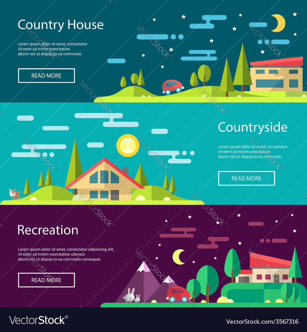 Modern flat design conceptual landscape with build vector | Price: 1 Credit (USD $1)