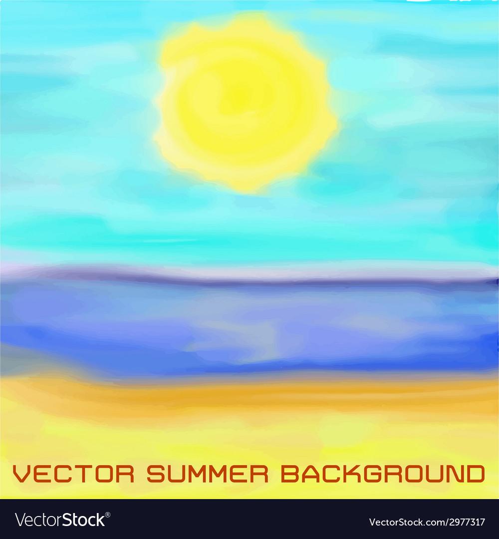 Beach sea and sun vector | Price: 1 Credit (USD $1)