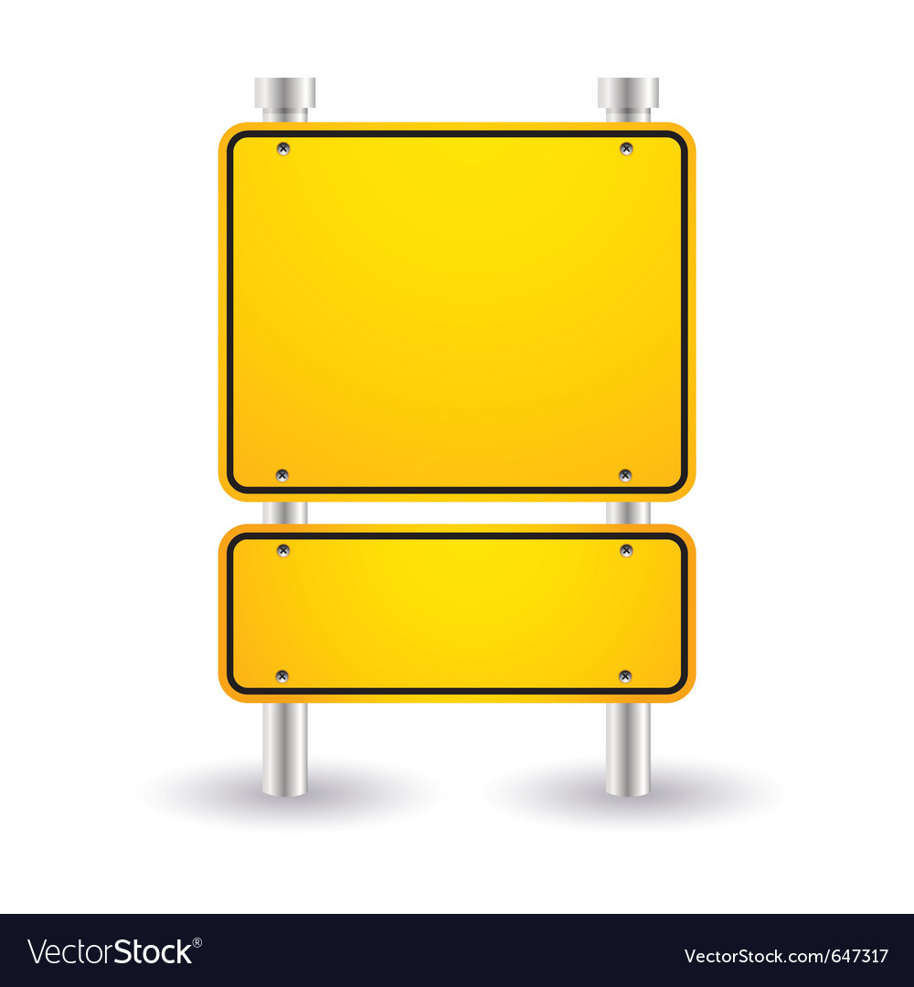 Blank yellow sign vector | Price: 1 Credit (USD $1)