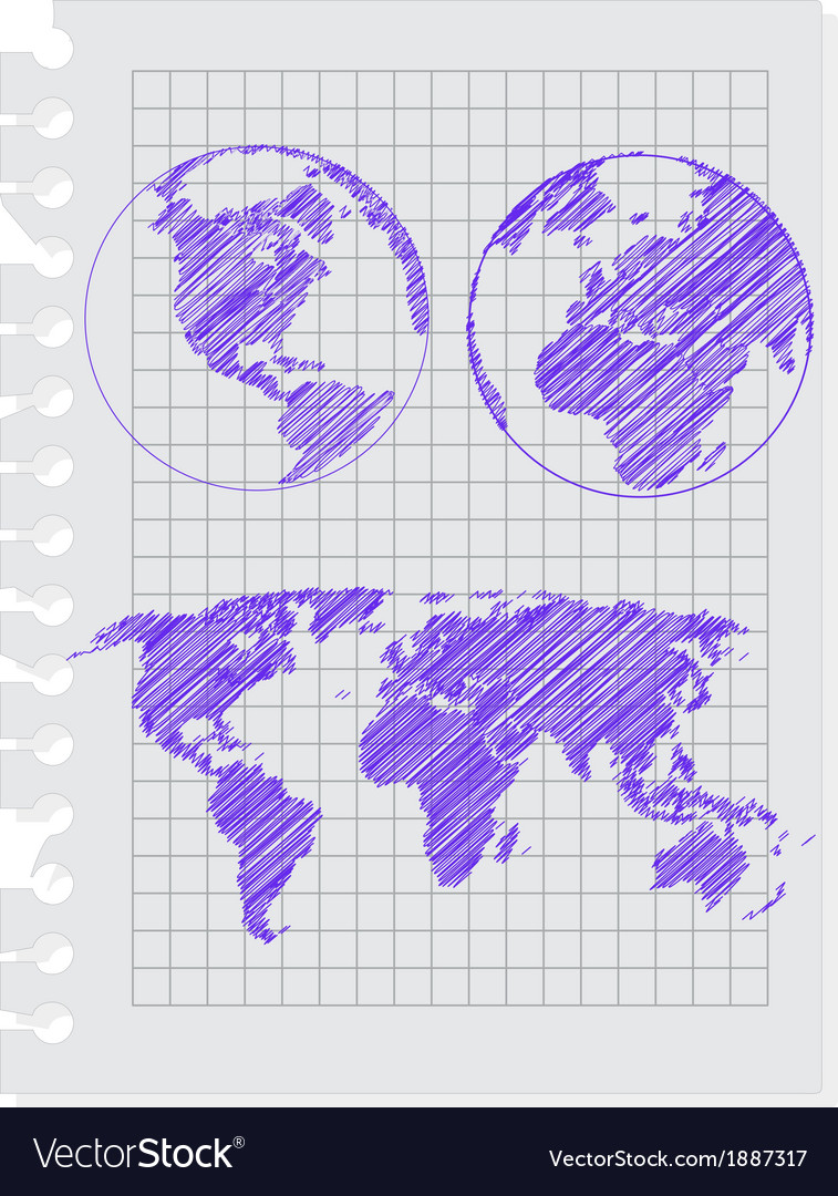 Earth sketch vector | Price: 1 Credit (USD $1)